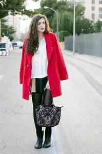Combinaciones de Outfits con Abrigos de Color Rojo para el Invierno   AquiModa.com vestidos de ...