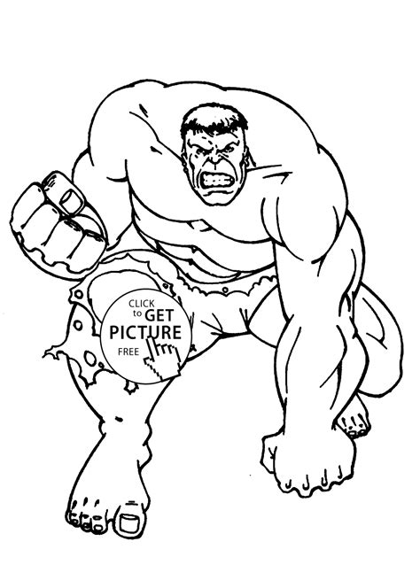 Hulk Coloring Pages For Kids Printable Free Coloing