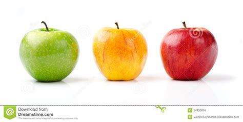 Manzanas Verdes, Amarillas Y Rojas Foto de archivo ...