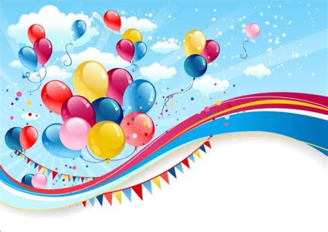 bright birthday background design vector 06 free