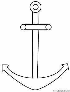 Anchor - Coloring Page (Sea/Marine)