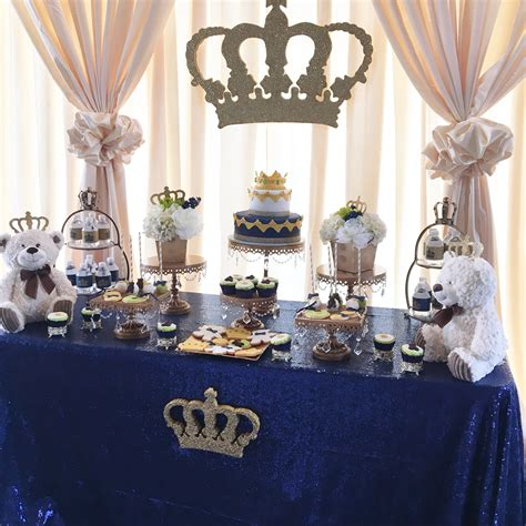 a royal prince or king themed baby shower
