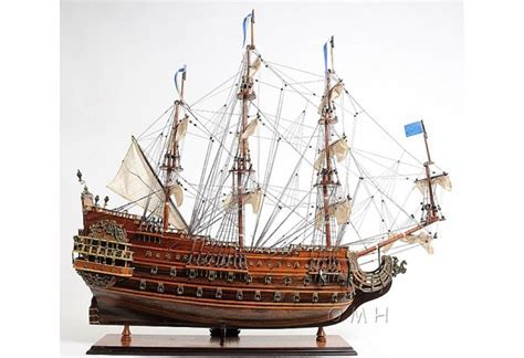 "Scaled Soleil Royal Tall Ship Wooden Model 28"" French Warship"