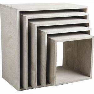 Etagere Cube Blanc : etagere cube bois ~ Teatrodelosmanantiales.com Idées de Décoration