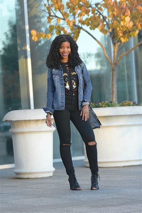 distressed denim lace  graphic tank top  style perk