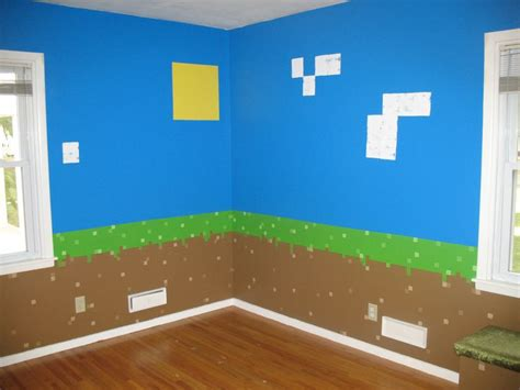 Minecraft Themed Room Ideas by Dirt Blocks With Sky Sun Clouds Minecraft Bedroom