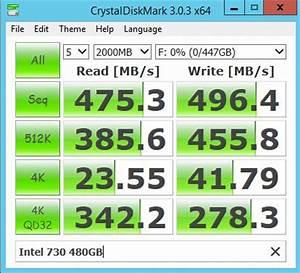 Intel 730 480GB SSD Quick Benchmarks
