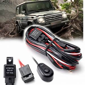 Led Work Light Bar Cable Car Auto Off Road Driving Fog