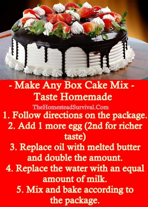 homemade cake mixes ideas  pinterest dry cake