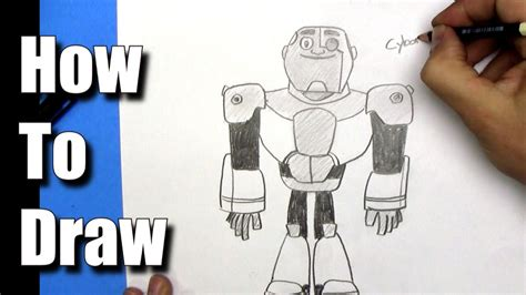 How To Draw Cyborg From Teen Titans Go!