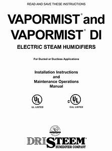 Dristeem Vapormist Installation Instructions And