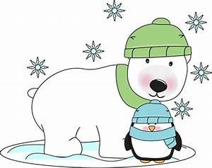 Polar bear and penguin. | Winter Clip Art | Pinterest ...
