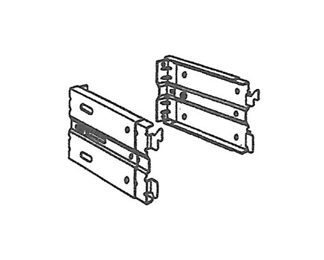 kirsch continental i adjustable clearance bracket at