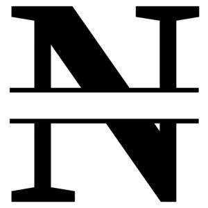 split letter stencil font monogram maker patterns
