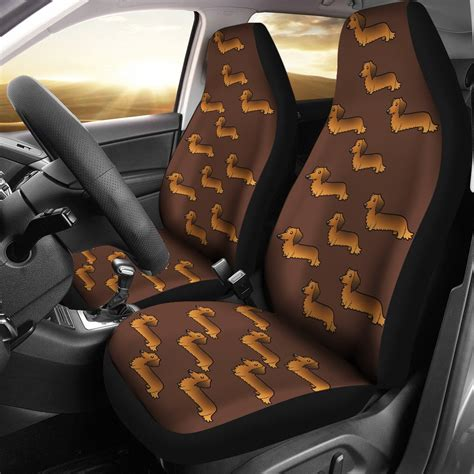 long haired dachshund car seat cover set   cathy