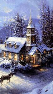 old beautiful christmas scenes