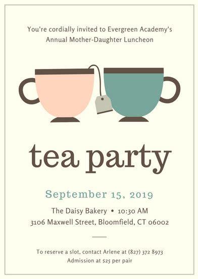 customize  tea party invitation templates  canva