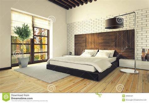 chambre avec mur en chambre à coucher avec le mur de briques