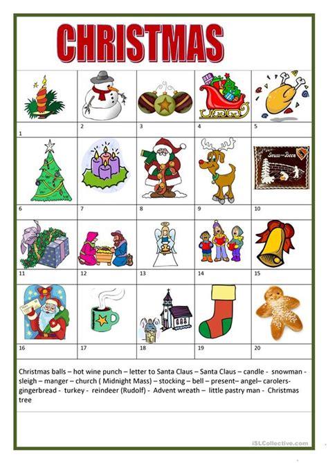 christmas worksheet  esl printable worksheets