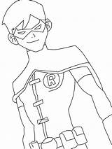 Coloring Justice Young Robin Drawings Deviantart sketch template