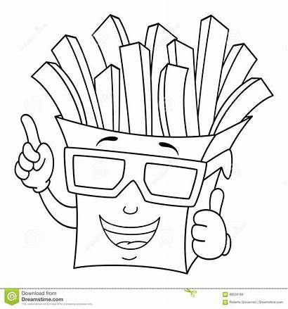 Coloring Fries French Bag Paper 3d Glasses