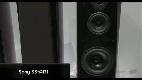 new sony ss ar2 speakers at ces 2012 exclusive interview youtube