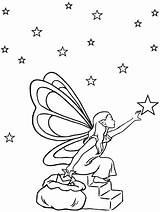 Coloring Fantasy Pages Fairy Printable sketch template