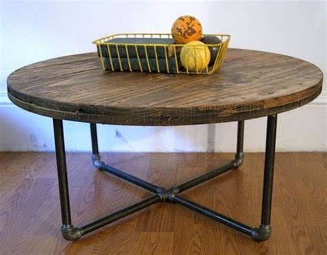 Your diy round fluted coffee table is now complete and ready for styling! 17+ Beautiful and Unique Round DIY Coffee Table Designs From Wood (With images) | Wooden spool ...