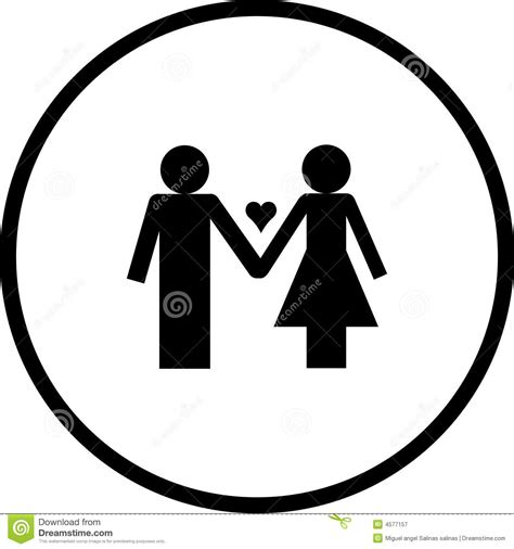 love couple vector symbol stock vector image