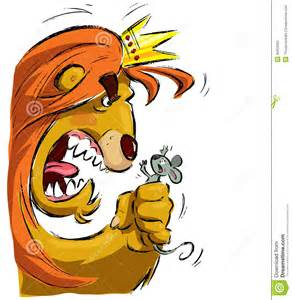 Cartoon Lion with Crown