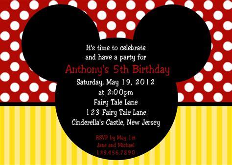 mickey mouse birthday invitation template birthday invitation mickey mouse birthday invitations new invitation cards new invitation