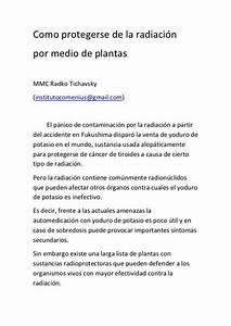 Como protegerse de la radiacion con plantas for Como protegerse de la radiacion