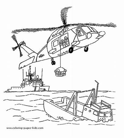 Helicopter Coloring Helicoptero Printable Colorir Imprimir Rescue