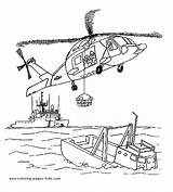 Helicopter Coloring Printable Air Transportation Rescue Helicopters Sheets Transport Colouring Boat Truck Sheet sketch template