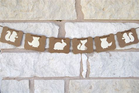 Spring Banner Woodland Animals Decoration for by