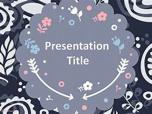 comic book template powerpoint - free scrapbook style floral background powerpoint template