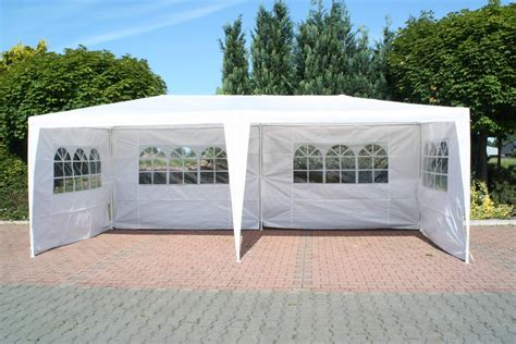 pavillon 4 50x4 50 pavillon 3 x 6 m pe weiss mit seitenteilen zelt stahl kaufen bei gd artlands etrading gmbh