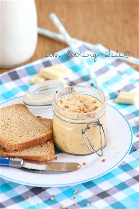 cooking lili 187 p 226 te 224 tartiner au chocolat blanc et pralin 233