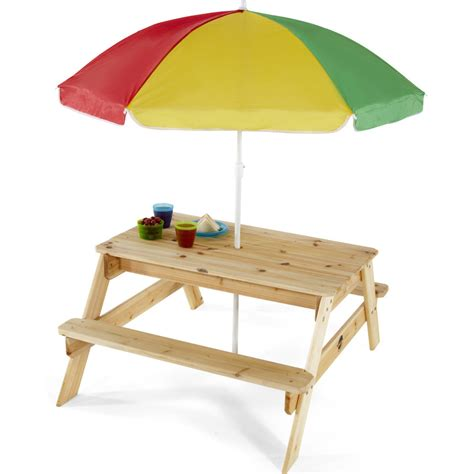 wooden picnic table with umbrella plum kids wooden picnic table with umbrella buy kids