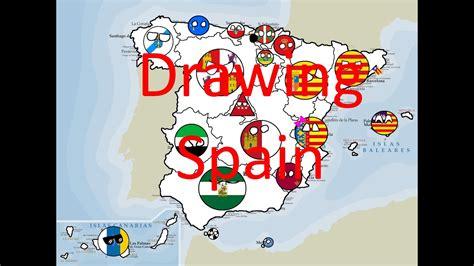 drawing map  spain part  polandballs spanish mapper