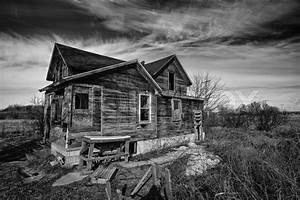 Creepy Old House Black And White