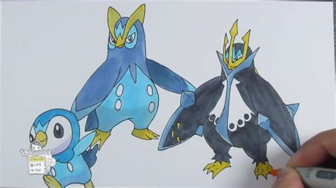 drawing pokemon   piplup   prinplup