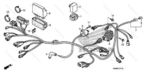 Wiring Diagram For Honda Recon Atv by Honda Atv 2007 Oem Parts Diagram For Wire Harness