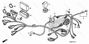 Honda Atv 2007 Oem Parts Diagram For Wire Harness  Trx250te