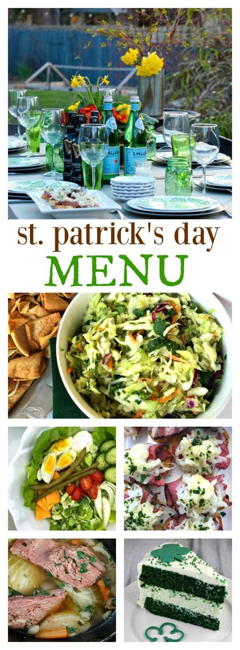 If you're feeling stuck by what to make this year, take a look at these carefully cultivated, easy christmas dinner menu ideas, each. St. Patrick's Day Menu - everything you need to plan a fun St. Patrick's Day party with full ...