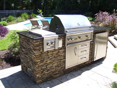 simple poolside grill island contemporary patio