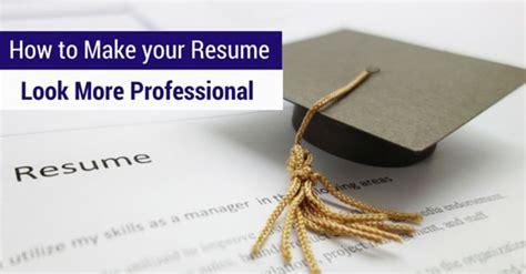make resume look professional
