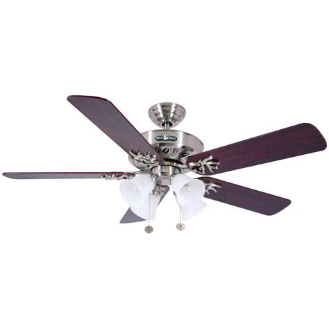 Brushed Nickel Ceiling Fans With White Blades by Marshall Buckhead Series Brushed Nickel Ceiling Fan