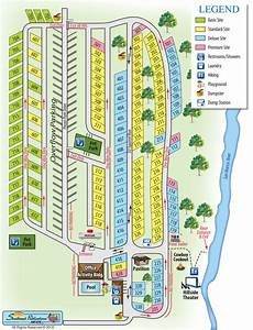 Texas Hill Country  U2013 Pecan Park Campground Map