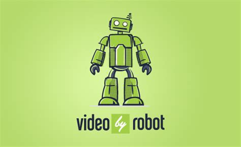 logo design video  robot logo high  graphic design